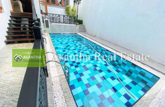 Swimming Pool with Luxury 03 Story House & Fully Furniture Sale At Jothika Rama Road, Thalwathugoda